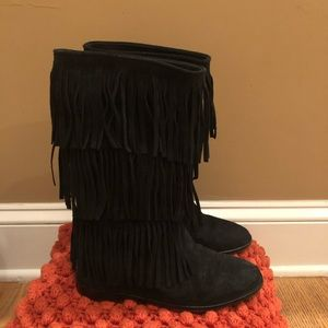 Alice and Olivia black suede boots